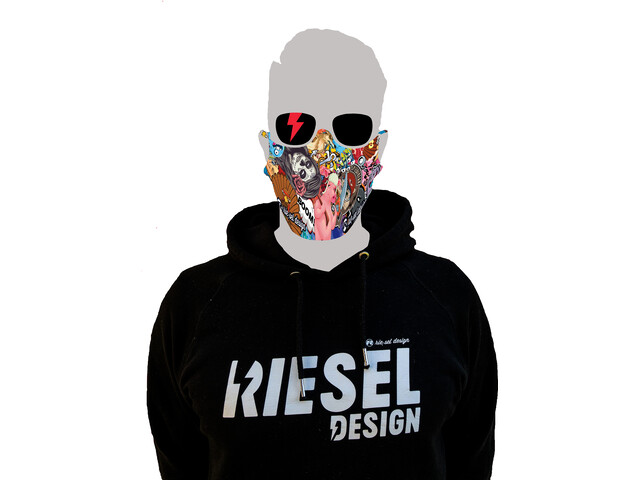 Riesel Design Masque, stickerbomb